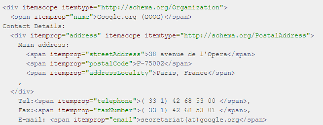 Search Schema